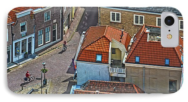 IPhone Case featuring the photograph Looking Down From The Church Tower In Brielle by Frans Blok