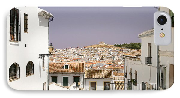 Looking Down Over Antequera  From Near The Church Of Santa Maria La Mayor  Phone Case by Mal Bray