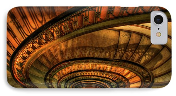 IPhone Case featuring the photograph Looking Down The Ponce Spiral Staircase Atlanta Georgia Art by Reid Callaway