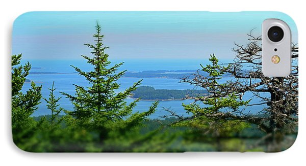 Looking East From Beech Mountain - Acadia No. 95 IPhone Case by Sandy Taylor