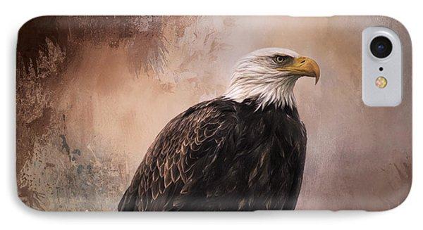Looking Forward - Eagle Art IPhone Case by Jordan Blackstone