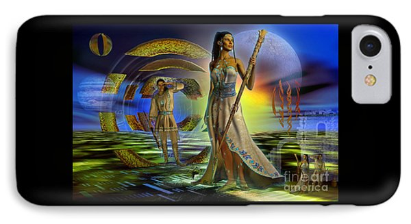 IPhone Case featuring the digital art Looking Forward Looking Back by Shadowlea Is