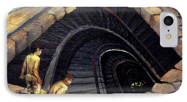 Looking Into Abyss IPhone Case by Mikhail Savchenko