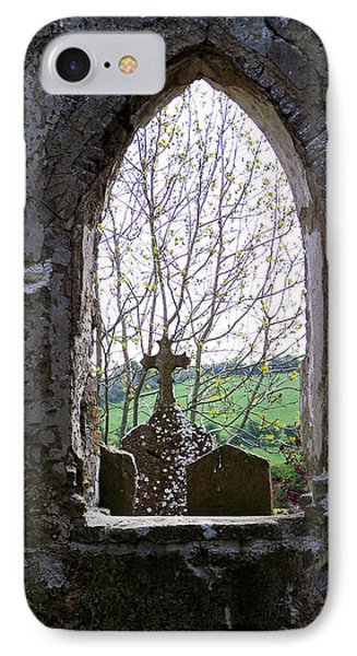Looking Out Fuerty Church Roscommon Ireland IPhone Case by Teresa Mucha