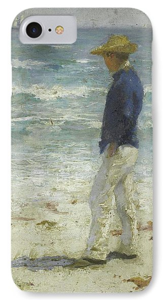 IPhone Case featuring the painting Looking Out To Sea by Henry Scott Tuke