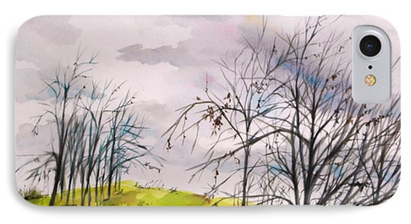 IPhone Case featuring the painting Looking Past To The Changing Sky by John Williams