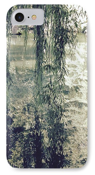 Looking Through The Willow Branches Phone Case by Linda Geiger