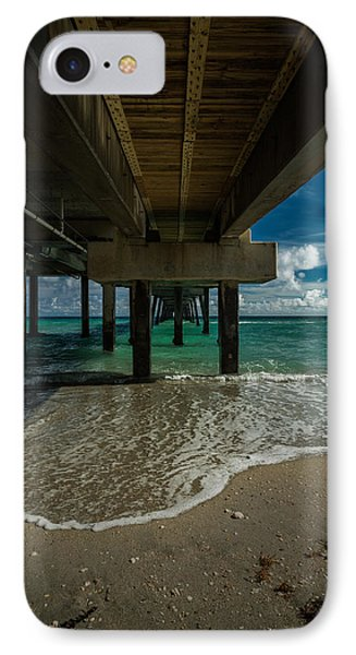 Looking Under The Pier IPhone Case