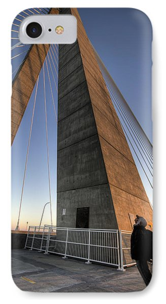 Looking Up Cooper River Bridge IPhone Case by Dustin K Ryan