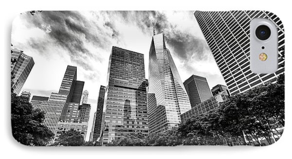 Looking Up In Bryant Park IPhone Case by John Rizzuto