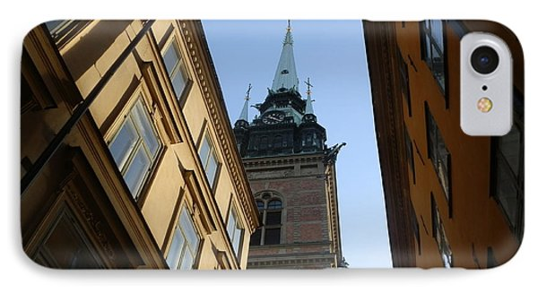 Looking Up From A Stockholm Street IPhone Case by Margaret Brooks