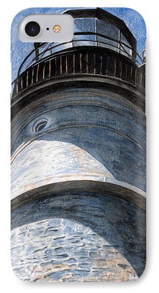 Looking Up Portland Head Light Phone Case by Dominic White