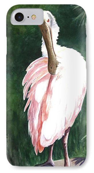 Look'n Back - Spoonbill IPhone Case by Roxanne Tobaison