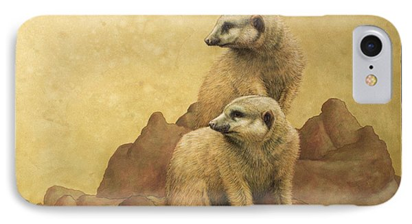 Meerkat iPhone 7 Case - Lookouts by James W Johnson
