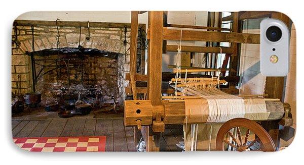 Loom And Fireplace In Settlers Cabin Phone Case by Douglas Barnett