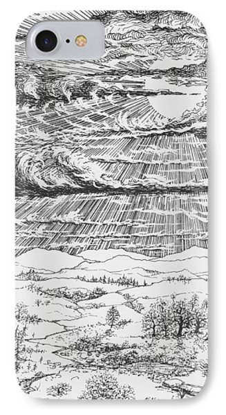 Looming Snowstorm IPhone Case by Charles Cater