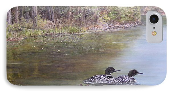 Loon Family 1 IPhone Case