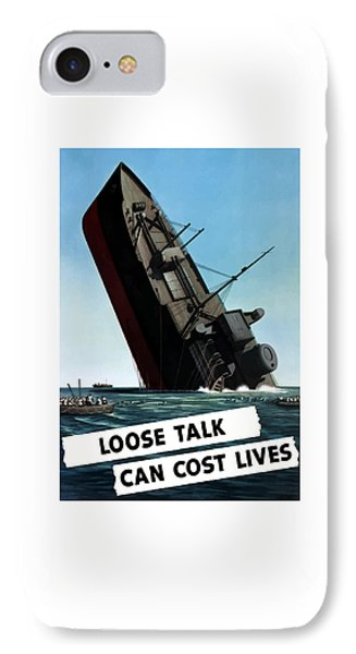 Loose Talk Can Cost Lives Phone Case by War Is Hell Store