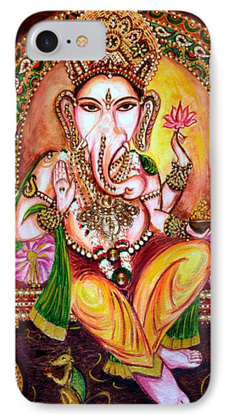 IPhone Case featuring the painting Lord Ganesha by Harsh Malik