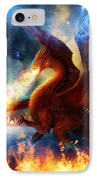 Dragon iPhone 7 Case - Lord Of The Celestial Dragons by Philip Straub