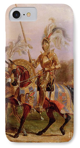 Lord Of The Tournament IPhone Case by Edward Henry Corbould