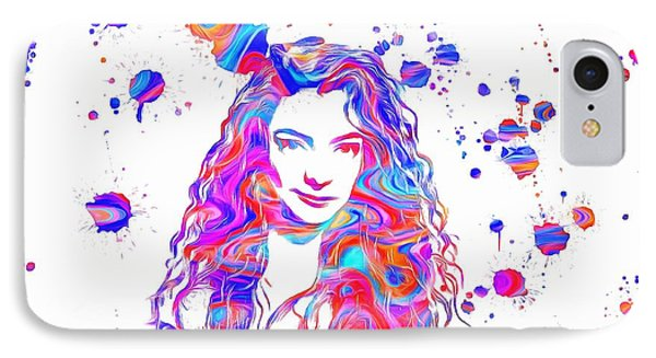 Lorde Colorful Paint Splatter IPhone Case