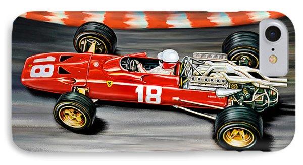 Lorenzo Bandini Ferrari F-1 IPhone Case by David Kyte