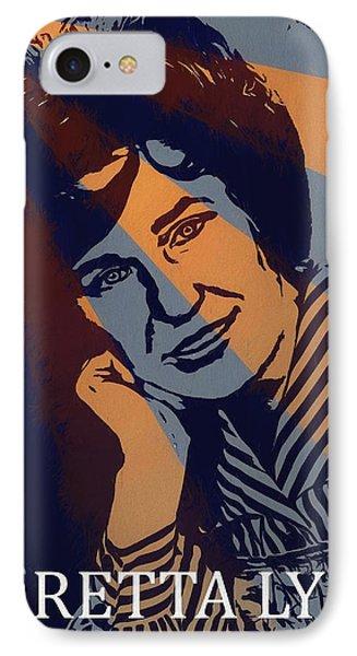 Loretta Lynn Poster IPhone Case by Dan Sproul