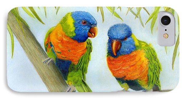 Lorikeet Pair IPhone Case