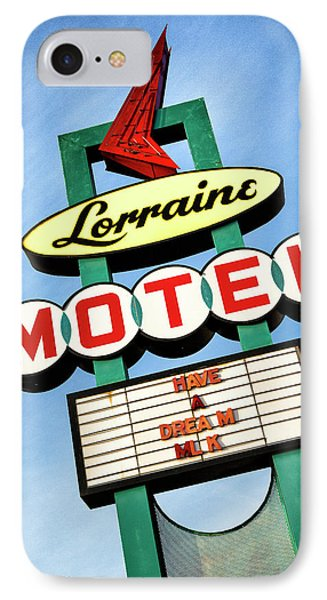 Lorraine Motel Sign IPhone Case