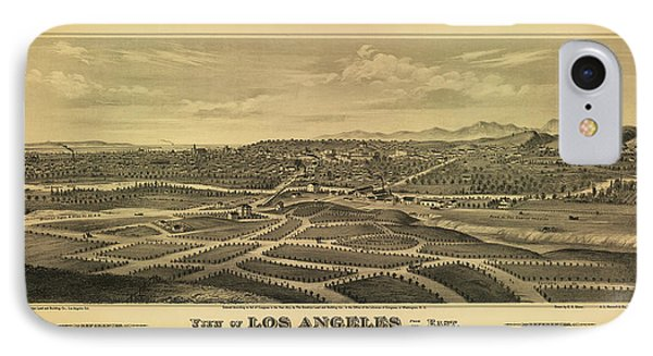 Los Angeles 1877 IPhone Case by Mountain Dreams