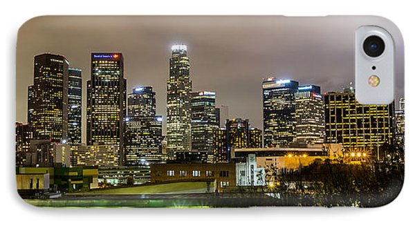 Los Angeles At Night IPhone Case by April Reppucci