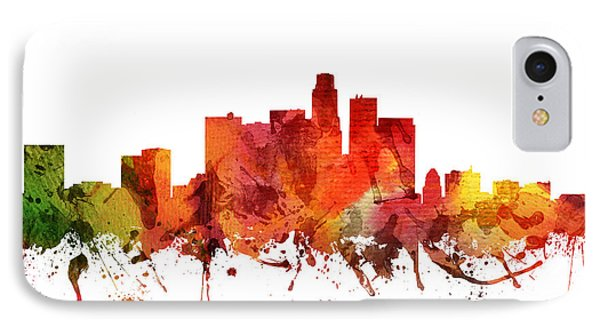 Los Angeles Cityscape 04 IPhone Case by Aged Pixel