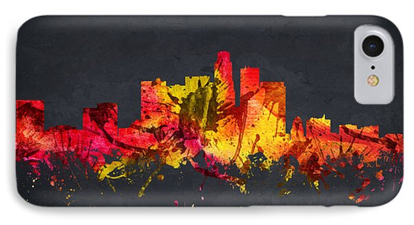 Los Angeles Cityscape 07 IPhone Case by Aged Pixel