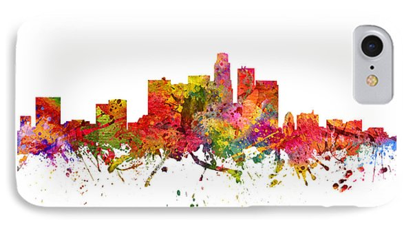 Los Angeles Cityscape 08 IPhone Case by Aged Pixel