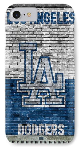 Los Angeles Dodgers Brick Wall IPhone Case by Joe Hamilton