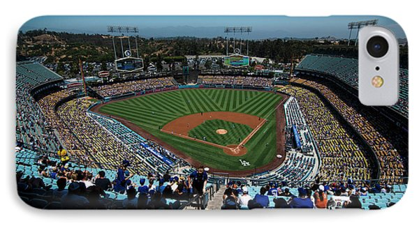 IPhone Case featuring the photograph Los Angeles Dodgers Dodgers Stadium Baseball 2043 by David Haskett