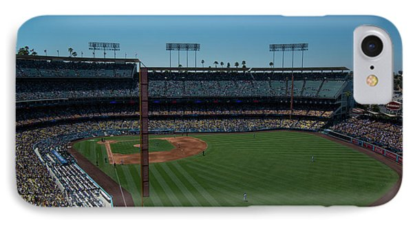 IPhone Case featuring the photograph Los Angeles Dodgers Dodgers Stadium Baseball 2063 by David Haskett