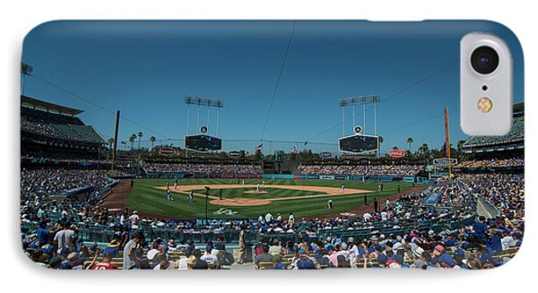 IPhone Case featuring the photograph Los Angeles Dodgers Dodgers Stadium Baseball 2110 by David Haskett
