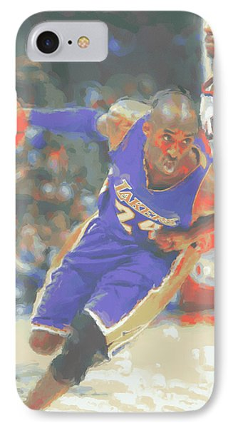 Los Angeles Lakers Kobe Bryant IPhone Case by Joe Hamilton