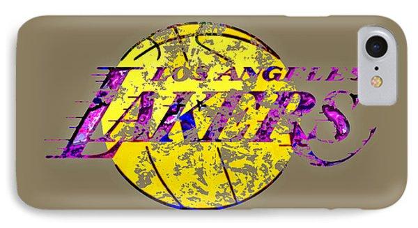 Los Angeles Lakers Paint Splatter IPhone Case