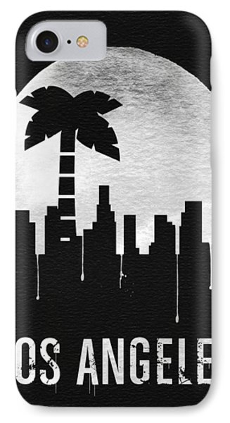 Los Angeles Landmark Black IPhone Case by Naxart Studio
