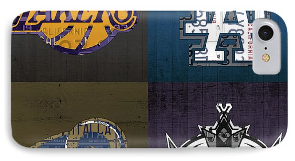 Los Angeles License Plate Art Sports Design Lakers Dodgers Rams Kings IPhone Case