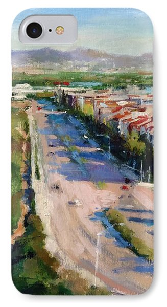 Los Angeles - Playa Vista From South Bluff Trail Road Phone Case by Peter Salwen