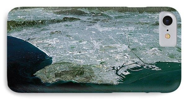 Los Angeles, Radar Image Phone Case by NASA / Science Source