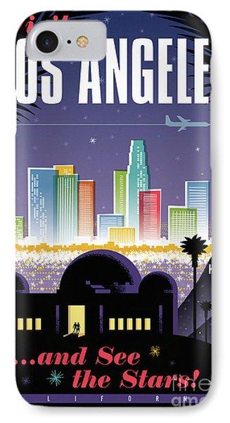 Los Angeles Retro Travel Poster IPhone 7 Case