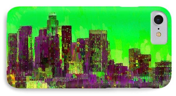 Los Angeles Skyline 105 - Pa IPhone Case
