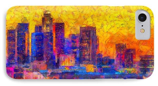 Los Angeles Skyline 122 - Da IPhone Case