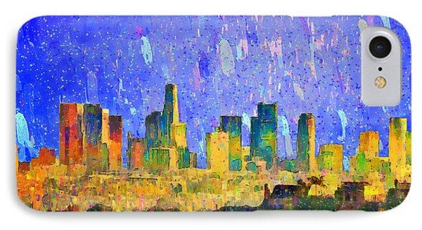 Los Angeles Skyline 5 - Pa IPhone Case