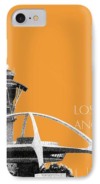 Los Angeles Skyline Lax Spider - Orange IPhone 7 Case